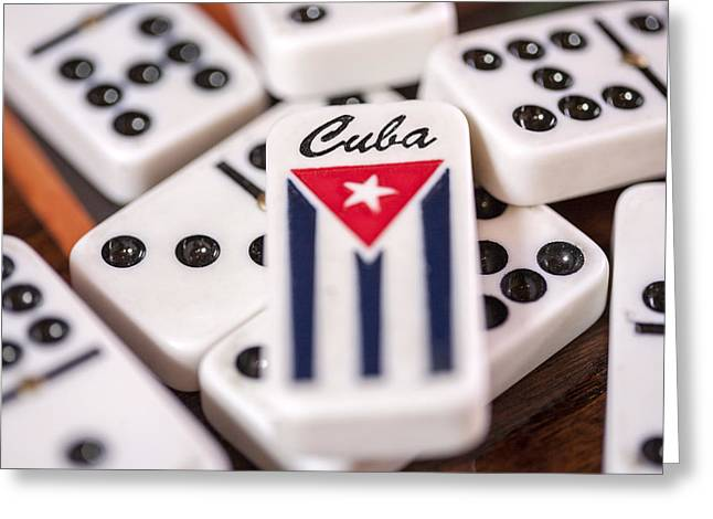 Cuba Dominoes Greeting Card by Al Hurley