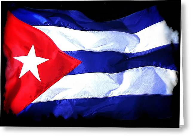 Cuba Flag Distressed Greeting Card