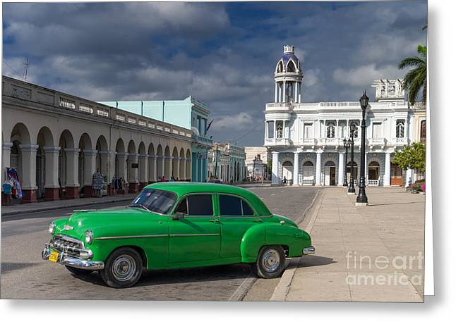 Greeting Card featuring the photograph Cuba Green  by Juergen Klust