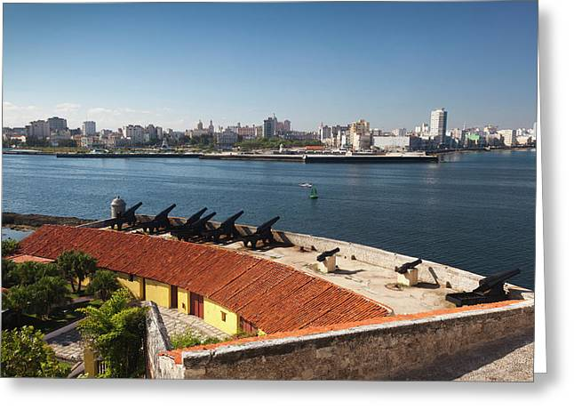 Cuba, Havana, Elevated View Greeting Card by Walter Bibikow