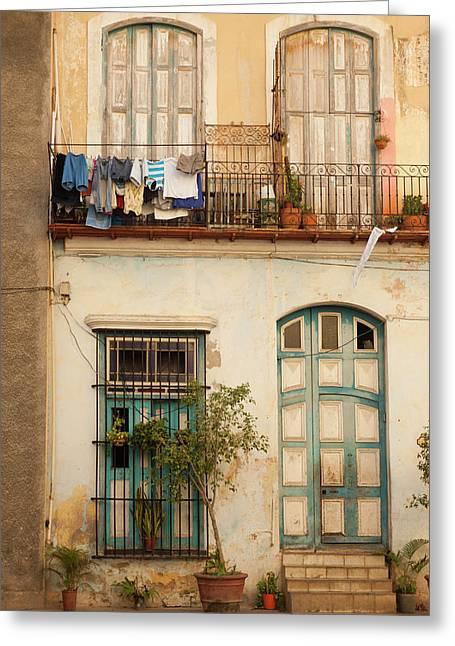 Cuba, Havana, Havana Vieja, Old Havana Greeting Card