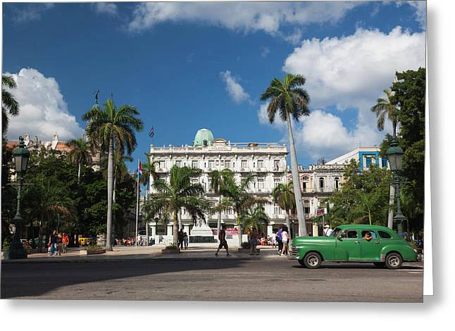 Cuba, Havana, Havana Vieja, The Parque Greeting Card