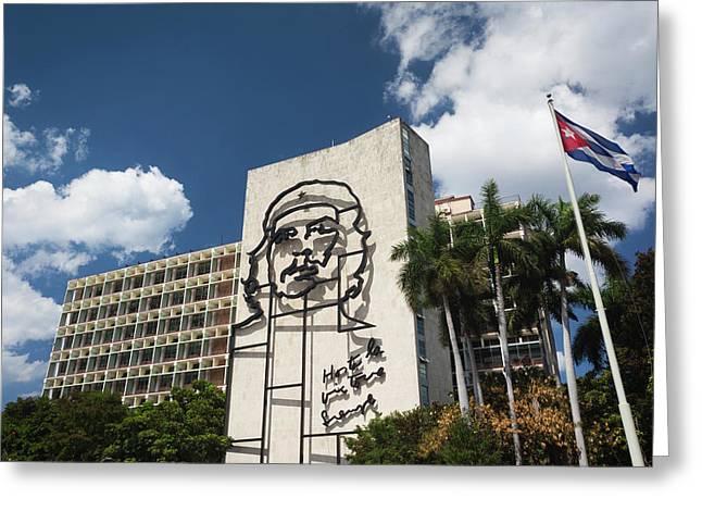 Cuba, Havana, Vedado, Plaza De La Greeting Card