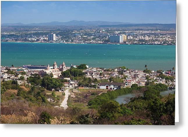 Cuba, Matanzas Province, Matanzas, City Greeting Card by Walter Bibikow