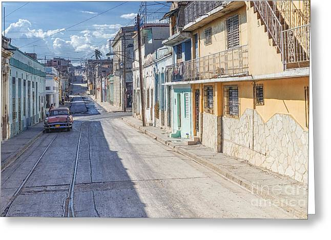 Cuba Pastell  Greeting Card by Juergen Klust