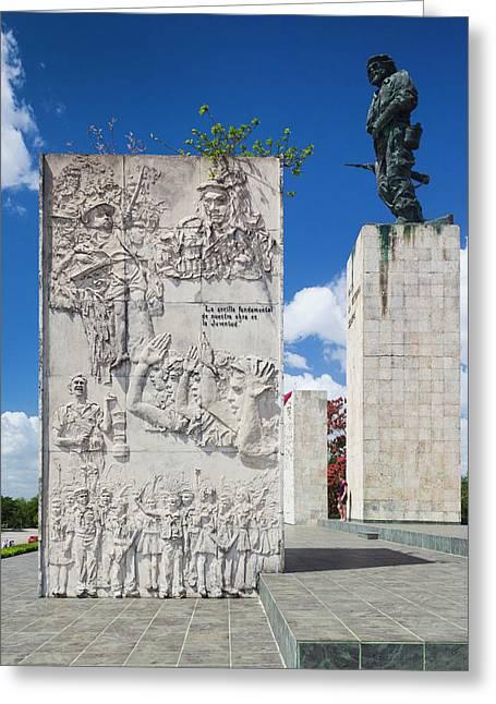 Cuba, Santa Clara Province, Santa Greeting Card by Walter Bibikow