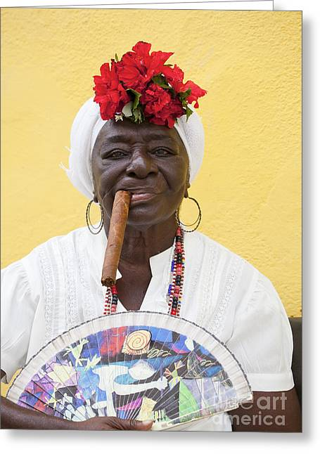 Cuban Lady Two Greeting Card