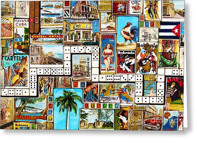 Cubana Greeting Card by Joseph Sonday