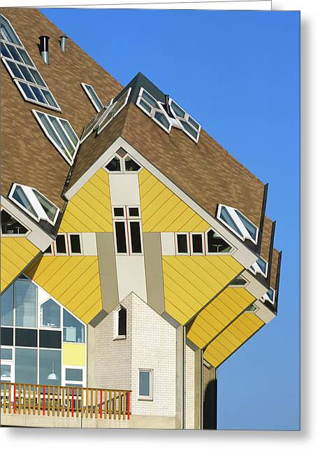 Cube Houses Greeting Card