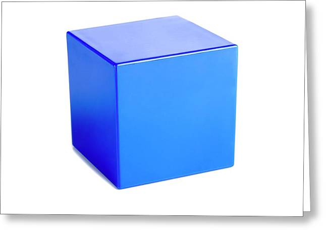 Cube Greeting Card by Science Photo Library
