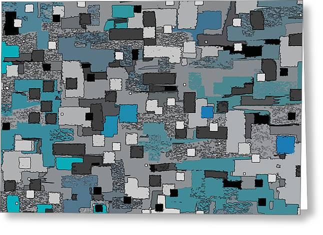Cubes Greeting Card by David G Paul