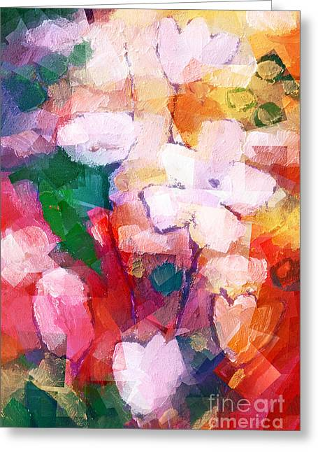 Cubic Flowers Greeting Card