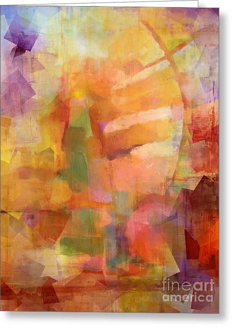 Cubic Impression Greeting Card by Lutz Baar