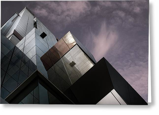 Cubic Reflection. Greeting Card by Harry Verschelden