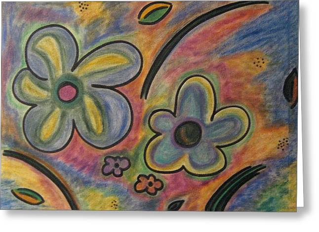 Cubism Flowers 2.3 Greeting Card