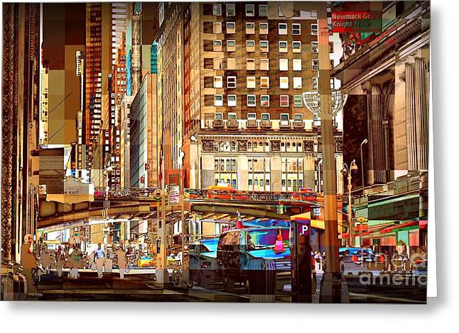 Grand Central And 42nd St Greeting Card by Miriam Danar
