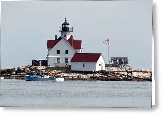 Cuckholds Lighthouse Greeting Card by Catherine Gagne