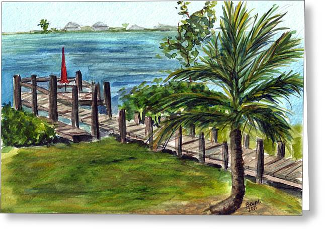 Cudjoe Dock Greeting Card