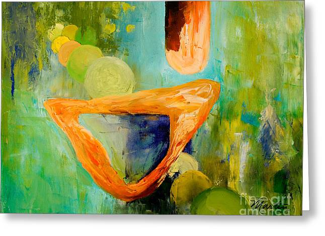 Cue L'orange Greeting Card by Larry Martin
