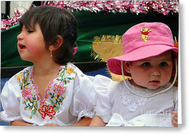 Cuenca Kids 250 Greeting Card by Al Bourassa