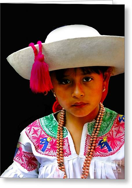 Cuenca Kids 310 Greeting Card by Al Bourassa