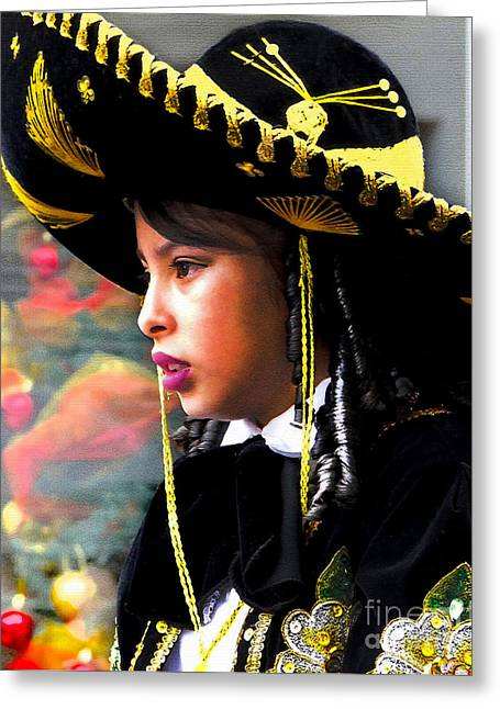 Cuenca Kids 345 Greeting Card by Al Bourassa