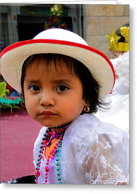 Cuenca Kids 376 Greeting Card by Al Bourassa