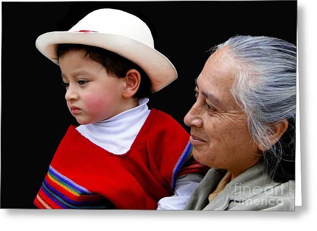 Cuenca Kids 381 Greeting Card by Al Bourassa