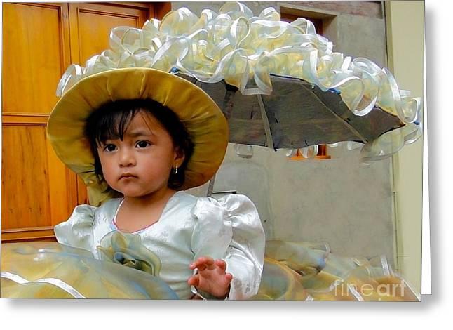 Cuenca Kids 382 Greeting Card by Al Bourassa