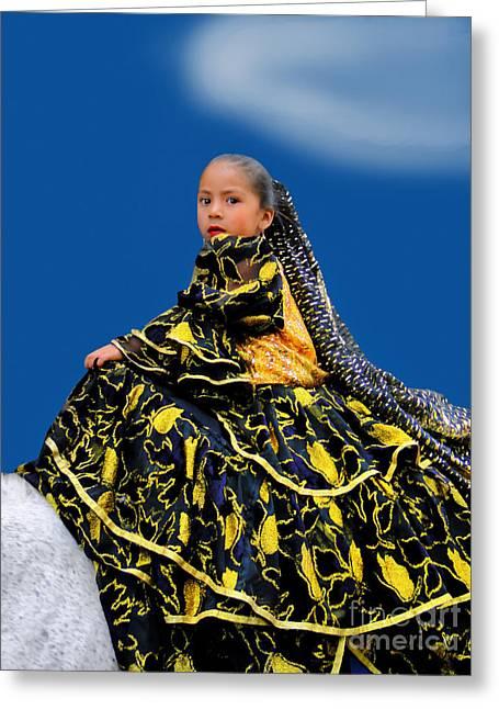 Cuenca Kids 394 Greeting Card by Al Bourassa