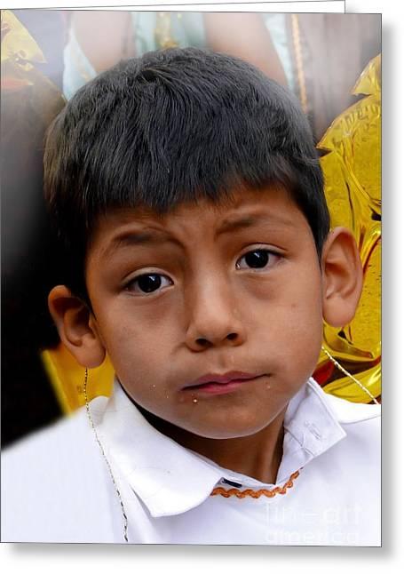 Cuenca Kids 411 Greeting Card by Al Bourassa