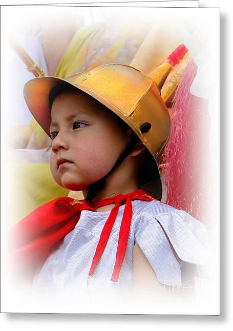 Cuenca Kids 426 Greeting Card by Al Bourassa
