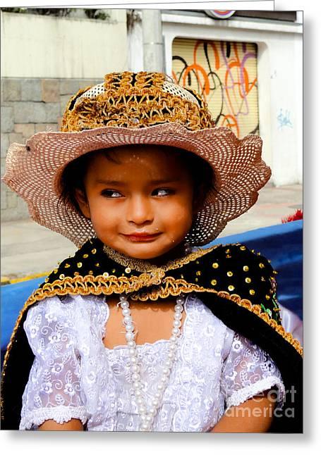 Cuenca Kids 498 Greeting Card by Al Bourassa