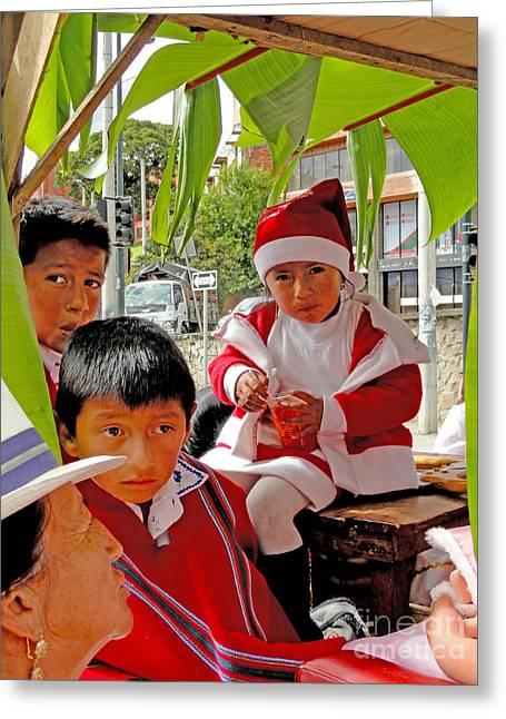 Cuenca Kids 501 Greeting Card by Al Bourassa