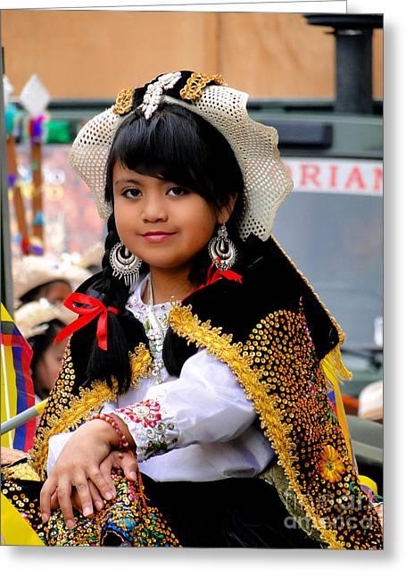 Cuenca Kids 583 Greeting Card by Al Bourassa