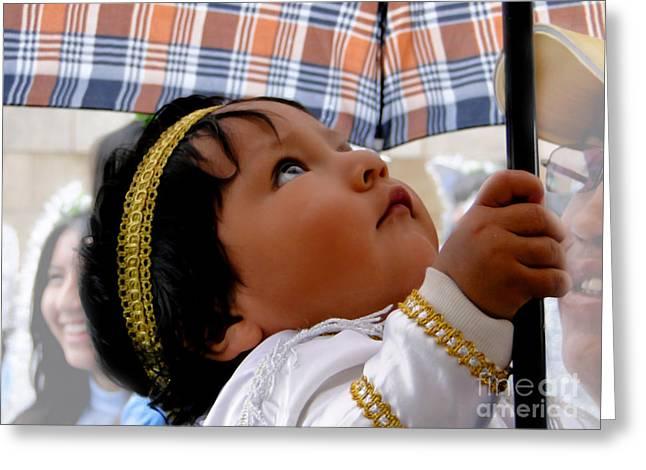 Cuenca Kids 597 Greeting Card by Al Bourassa