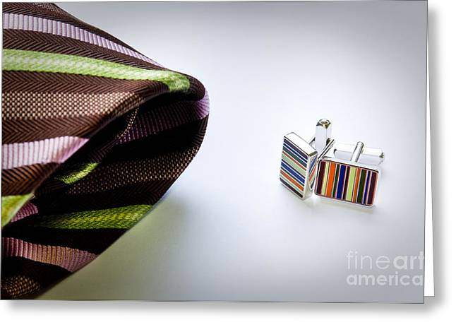 Cuff Links Greeting Card by Tim Hester