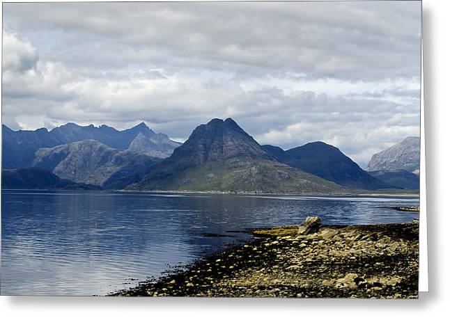 Greeting Card featuring the photograph Cuillin Hills From Elgol Isle Of Skye by Sally Ross
