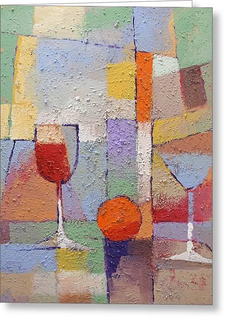 Cuisine Textured Greeting Card by Lutz Baar