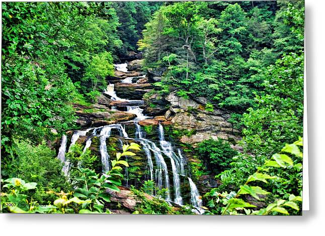 Cullasaja Falls Greeting Card by Kenny Francis