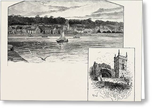 Culross, From The Pier Left, Culross Abbey Right Greeting Card by Scottish School