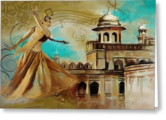 Cultural Dancer Greeting Card by Catf