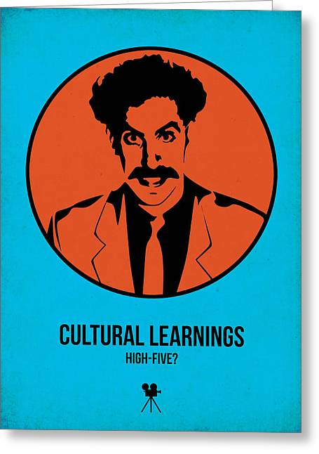 Cultural Learnings Greeting Card by Naxart Studio