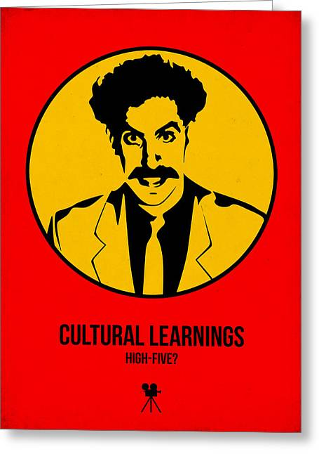 Cultural Learnings Poster 2 Greeting Card by Naxart Studio