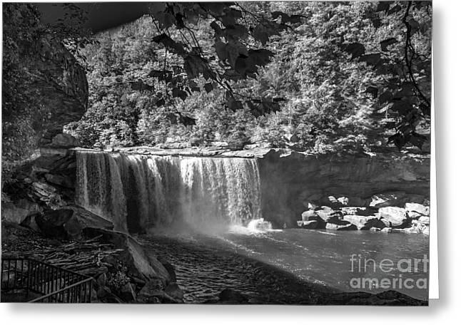 Cumberland Falls Six Bw Greeting Card