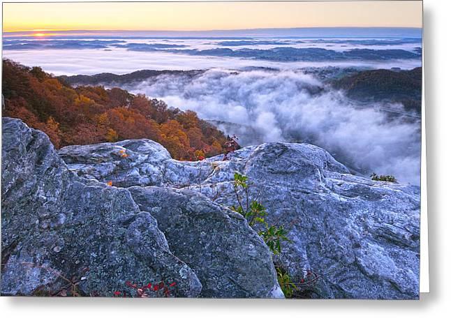 Cumberland Gap Sunrise Greeting Card