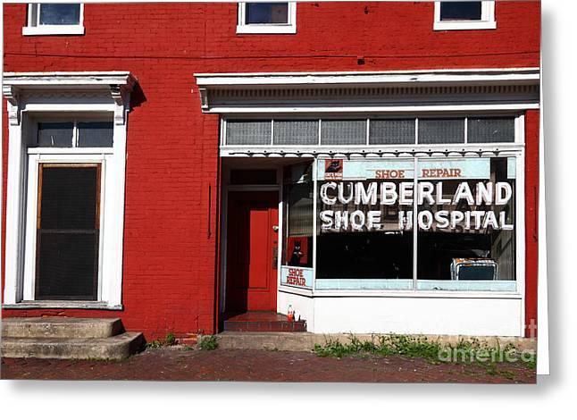 Cumberland Shoe Hospital Greeting Card
