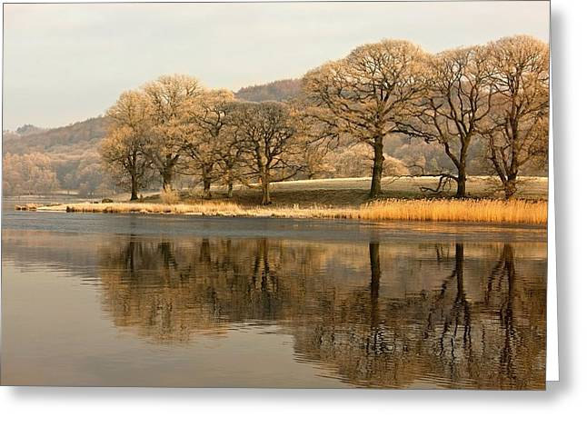 Cumbria, England  Lake Scenic Greeting Card by John Short