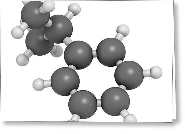 Cumene Aromatic Hydrocarbon Molecule Greeting Card by Molekuul