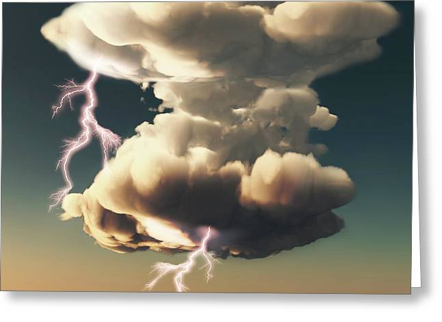 Cumulonimbus Storm Cloud Greeting Card